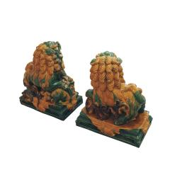 Chinese XIX Century Pair of Protection Foo Lions - 2051071