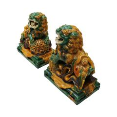 Chinese XIX Century Pair of Protection Foo Lions - 2051072
