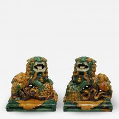 Chinese XIX Century Pair of Protection Foo Lions - 2051205