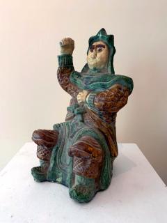 Chinese ceramic Glazed Guardian Ming Dynasty - 1510095