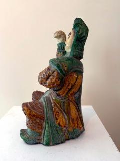Chinese ceramic Glazed Guardian Ming Dynasty - 1510101
