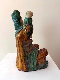 Chinese ceramic Glazed Guardian Ming Dynasty - 1510102