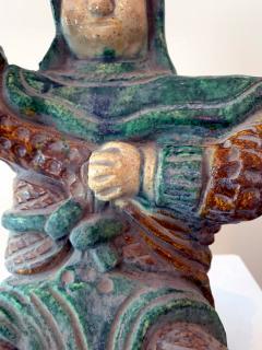 Chinese ceramic Glazed Guardian Ming Dynasty - 1510104