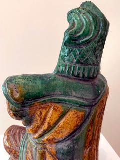Chinese ceramic Glazed Guardian Ming Dynasty - 1510107