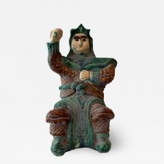 Chinese ceramic Glazed Guardian Ming Dynasty - 1512261