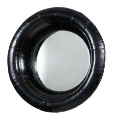 Chinese circular black lacquered basin fitted with mirror - 1934600