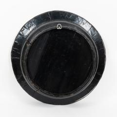 Chinese circular black lacquered basin fitted with mirror - 1934601