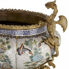 Chinese cloisonn enamel and French gilt bronze jardini re - 1274543