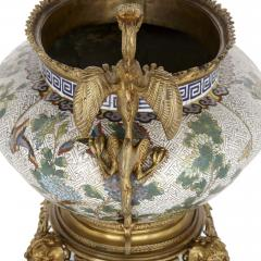 Chinese cloisonn enamel and French gilt bronze jardini re - 1274544