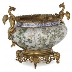 Chinese cloisonn enamel and French gilt bronze jardini re - 1274546