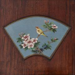 Chinese folding screen mounted with cloisonn enamel panels - 1569834