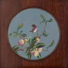 Chinese folding screen mounted with cloisonn enamel panels - 1569836