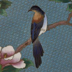 Chinese folding screen mounted with cloisonn enamel panels - 1569837