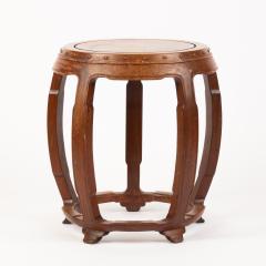 Chinese rosewood barrel shaped garden seat - 1932290