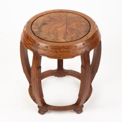 Chinese rosewood barrel shaped garden seat - 1932292