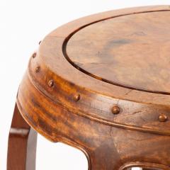 Chinese rosewood barrel shaped garden seat - 1932295