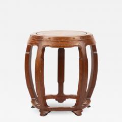 Chinese rosewood barrel shaped garden seat - 1934929