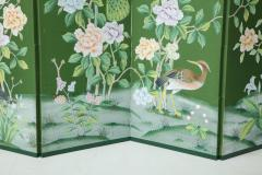 Chinoiserie Six Panel Hand Decorated Screen - 1176755