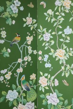 Chinoiserie Six Panel Hand Decorated Screen - 1176756
