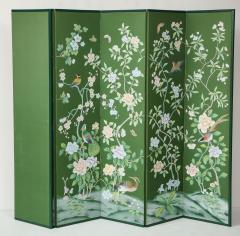 Chinoiserie Six Panel Hand Decorated Screen - 1176760