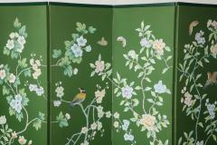 Chinoiserie Six Panel Hand Decorated Screen - 1176761