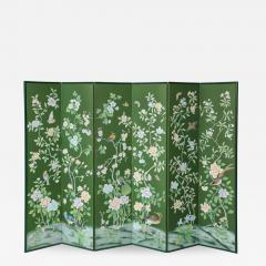 Chinoiserie Six Panel Hand Decorated Screen - 1176782