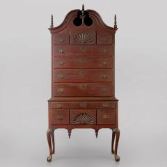Chippendale Bonnet Top Highboy - 578084