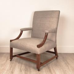Chippendale Mahogany Library Chair England Circa 1770 - 1649540
