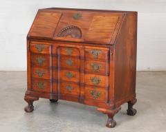Chippendale Style Carved Mahogany Slant Front Secretary Desk - 2142227