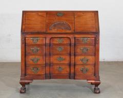 Chippendale Style Carved Mahogany Slant Front Secretary Desk - 2142228