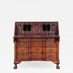 Chippendale Style Carved Mahogany Slant Front Secretary Desk - 2144903