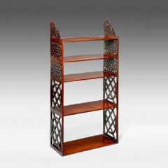 Chippendale period mahogany hanging wall shelves - 828469