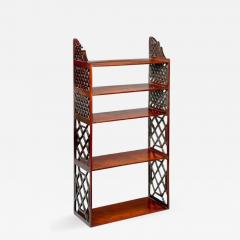 Chippendale period mahogany hanging wall shelves - 900183