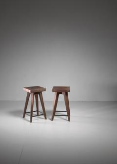 Christian Durupt Pair of Christian Durupt stools from Meribel France 1950s - 977042
