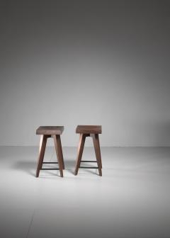 Christian Durupt Pair of Christian Durupt stools from Meribel France 1950s - 977043
