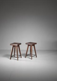 Christian Durupt Pair of Christian Durupt stools from Meribel France 1950s - 977044