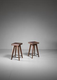 Christian Durupt Pair of Christian Durupt stools from Meribel France 1950s - 977045