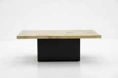 Christian Krekels Etched brass coffee table by Christian Krekels Signed and date 1976  - 789951