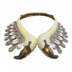 Christian Lacroix Christian Lacroix Swan Runway Necklace - 505653