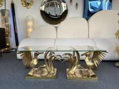 Christian Techoueyres Bronze Pelican and Reed Coffee Table by Christian Techoueyres France 1970s - 2063209