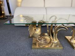 Christian Techoueyres Bronze Pelican and Reed Coffee Table by Christian Techoueyres France 1970s - 2063211