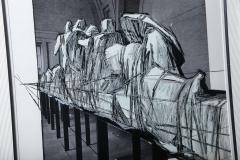 Christo Wrapped Statues Silkscreen Photo Collage circa 1988 - 364638