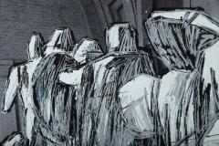 Christo Wrapped Statues Silkscreen Photo Collage circa 1988 - 364643