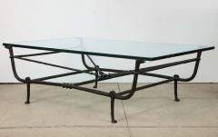 Christopher Chodoff Bronze Giacometti Style Etruscan Coffee Table Attrb Christopher Chodoff - 1316368
