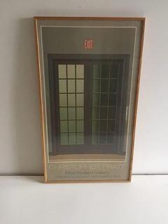 Christopher Pratt Modern Poster of French Doors by Canadian Artist Christopher Pratt - 413566
