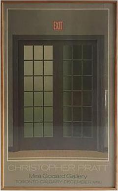 Christopher Pratt Modern Poster of French Doors by Canadian Artist Christopher Pratt - 413567 & Christopher Pratt - Modern Poster of French Doors by Canadian Artist ...