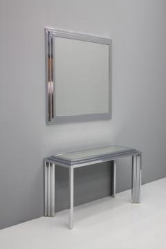 Chrome and Mirror Free Standing Console Table France 1974 - 1325061