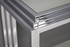Chrome and Mirror Free Standing Console Table France 1974 - 1325063