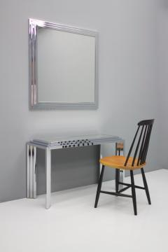 Chrome and Mirror Free Standing Console Table France 1974 - 1325064
