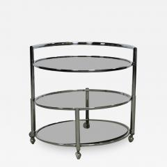 Chrome and Smoked Glass Rolling Dry Bar - 219293